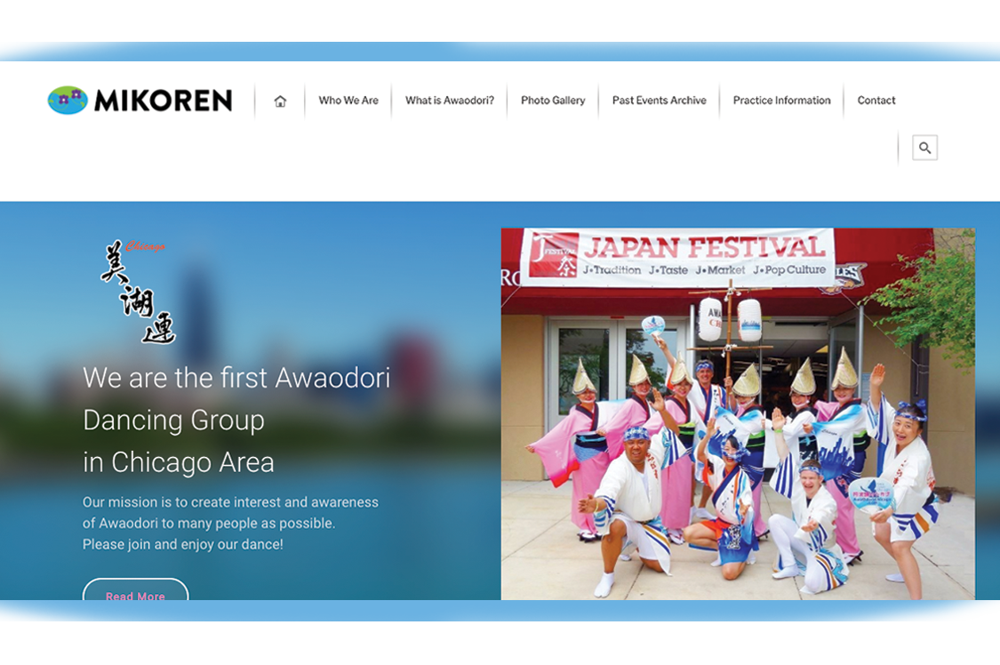 Mikoren Website screenshot